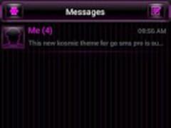 GO SMS Theme Kosmic 1.0 Screenshot