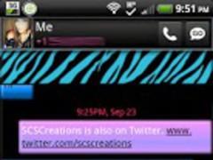 GO SMS - Pastel Zebra 1.1 Screenshot