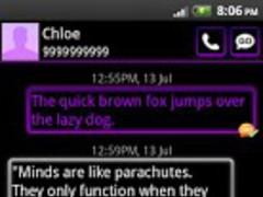 GO SMS Theme Purple Neon 2.50 Screenshot