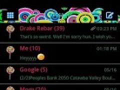 GO SMS THEME/retrocircles 1.0 Screenshot