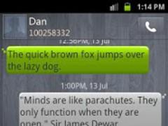 GO SMS Theme Sleek Wood 2.50 Screenshot