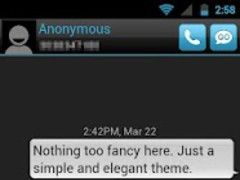 GO SMS THEME - Smooth Blue 1.7 Screenshot