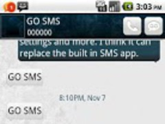 GO SMS Theme White and blue 1.2 Screenshot