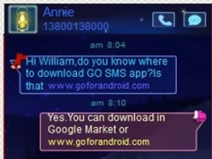 GO SMS Theme Winter 1.0 Screenshot