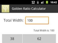 Golden Ratio Calculator 1.0 Screenshot