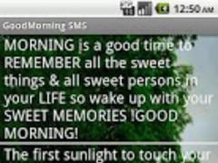 GoodMorning SMS 1.3 Screenshot