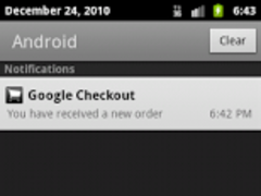 Google Checkout Notifier Trial 1.7 Screenshot