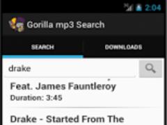 Gorilla mp3 Downloader 3.1 Screenshot