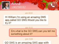 GO SMS Pro Valentine's Day the 1.0 Screenshot