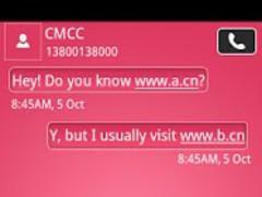GOSMSTHEME Bubble Pink 1.01 Screenshot