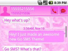 GOSMSTHEME Pink Glass 1.0 Screenshot