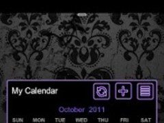 GOWidget Theme- Purple Glow Ex 2.0 Screenshot