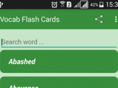 GRE / GMAT Vocab Flash Cards 1.2 Screenshot