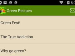 Great Green Recipes 1.0 Screenshot
