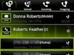 Green ICS GO Contacts Theme 1.9 Screenshot