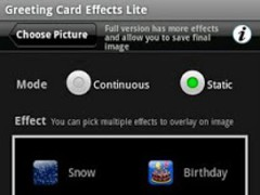 Greeting Card Effects Lite 1.0 Screenshot