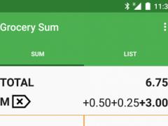 Grocery Sum Shopping List 4.5 Screenshot