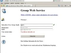 GroupWebService 1.0 Screenshot