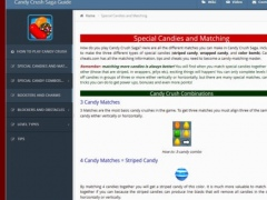 Guide for Candy Crush Saga - Videos, Tips, Walkthrough 1.0 Screenshot