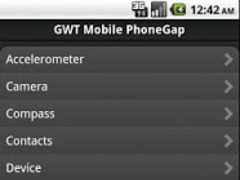 GWT Mobile PhoneGap Showcase 1.6 Screenshot