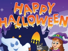 Halloween Coloring Page : Magic Witch Mania Princess Castle 1.2 Screenshot