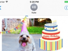 Happy Birthday sticker pic - stickers for iMessage 1.0 Screenshot