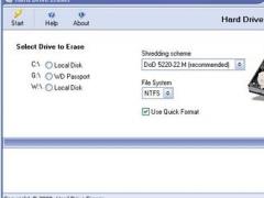 Hard Drive Eraser 2.0 Screenshot