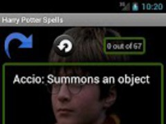 Harry Potter Spells List 1.0 Screenshot