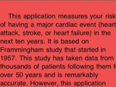 Heart Disease Risk Calculator 1.0 Screenshot