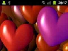 Hearts 3D Free Live Wallpaper 2.03 Screenshot