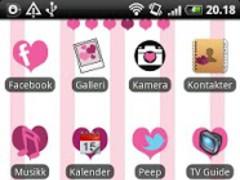 Hearts GO Launcher EX Theme 1.3 Screenshot