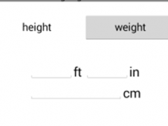 Height & Weight Converter 1.0 Screenshot