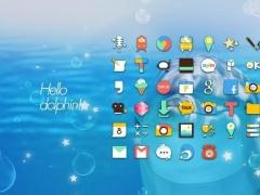 Hello Dolphin launcher theme 1.0 Screenshot