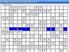Hex Sudoku Generator 3.4 Screenshot