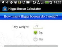 Higgs Boson Calculator 1.0 Screenshot