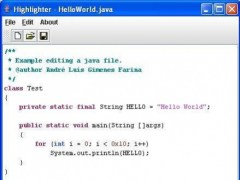 Highlight Code Editor with ANTLR 1.0 Screenshot