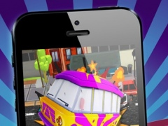 Hippie Monster Van Double Bounce - FREE - Obstacle Course Town Car Race Game 1.2 Screenshot