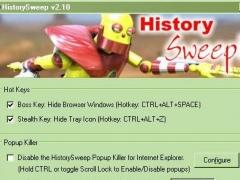 HistorySweep 2.30 Screenshot
