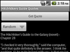 Hitchhikers Guide Quotes 1.0 Screenshot