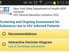 HIV-Substance Use Guideline 1 Screenshot