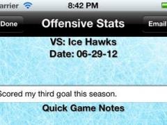Hockey Stats Tracker Touch 1.1 Screenshot