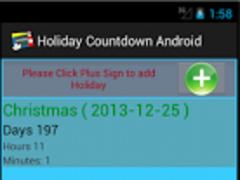 Holiday Countdown 1.0 Screenshot
