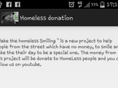 Homeless Donation 1.0 Screenshot
