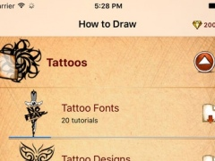 How To Draw Stylish Tattoo Fonts 1.0 Screenshot