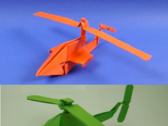 Papercraft Origami Helicopter Flicker | PapercraftSquare.com | 180x240