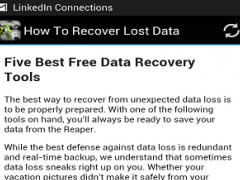 How To Recover Lost Data 1.0 Screenshot