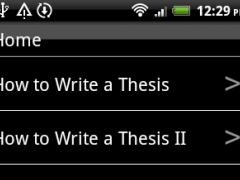 How To Write a Thesis 6.0 Screenshot