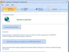 HP Laptop to Hotspot Converter 9.7 Screenshot