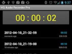 HQ Audio Recorder Pro 2.1 Screenshot