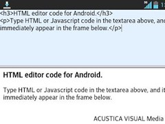 HTML Code Editor 1.0 Screenshot